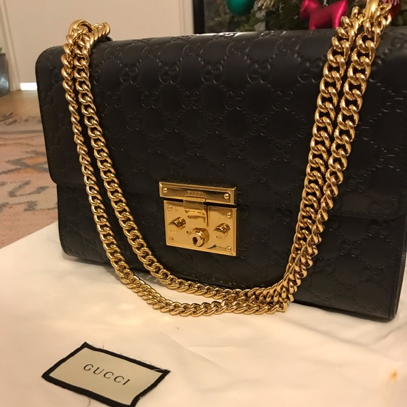 dd973f500 Gucci Bags | Padlock Signature Shoulder Bag In Black | Poshmark